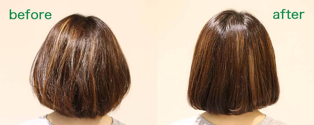 calm apartment SPA×HAIR BEFORE&AFTER その1