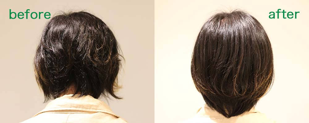 calm apartment SPA×HAIR BEFORE&AFTER その2